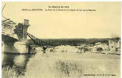 Mont-sur-Meurthe. Le Pont de la Route et du chemin de fer sur la Meurthe, …