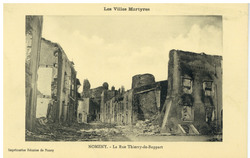 Nomeny. La Rue Thierry-de-Boppart : les Villes Martyres
