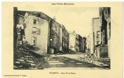 Nomeny. Rue Porte-Basse : les Villes Martyres