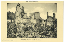 Nomeny. Un coin de la Rue Vaudémont : les Villes Martyres