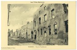 Nomeny. Rue de Vaudémont : les Villes Martyres
