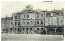 Pont-à-Mousson. L'Hôtel de Ville, Guerre 1914-1915