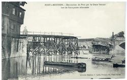 Pont-à-Mousson. Destruction du Pont par le Génie français lors de l'occupa…