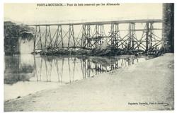 Pont-à-Mousson. Pont de bois construit par les Allemands
