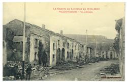 Vallois bombardé. Vue intérieure, la Guerre en Lorraine en 1914-1915