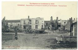 Vitrimont. Bombardé par les Français et ensuite par les Allemands : vue in…