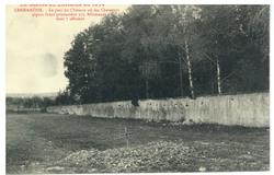 Xermaménil. Le parc du Château où les Chasseurs alpins firent prisonniers …