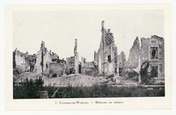 Fresnes-en-Woëvre. Maisons en ruines
