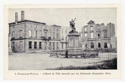 Fresnes-en-Woëvre. L'Hôtel de Ville incendiée par les Allemands (Septembre…