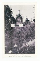 Fresnes-en-Woëvre. Tombe de civils fusillés par les Allemands