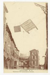 St-Mihiel (Meuse) : écriteau allemand en travers d'une rue (photo 1918) M.…