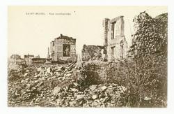 Saint-Mihiel : rue bombardée