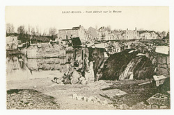 Saint-Mihiel : pont détruit sur la Meuse