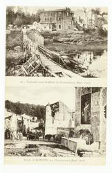 Passerelle entre St-Mihiel et Chauvoncourt (Sept. 1918). Entrée de St-Mihi…