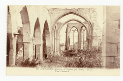 Varennes (Meuse) : l'Église (ph. 1918)  M. D.. The Church