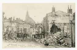Verdun. Ruines après le bombardement. Ruins after the bombardment. Guerre …