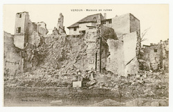 Verdun : maisons en ruines