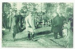 Le Roi d'Espagne au Cimétière de Verdun