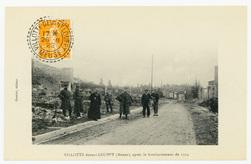 Villotte devant-Louppy (Meuse), après le bombardement de 1914