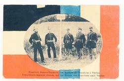 Frontière franco-allemande, sur la route de Gravelotte à Verdun. Französis…