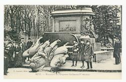 Metz. Monument de l'Empereur Guillaume Ier renversé