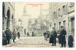 Raon-l-Étape bombardé par les Allemands : vue intérieure, la Guerre en Lor…