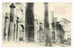 Raon-l'Étape (Vosges) incendié volontairement par les Allemands. Les Halle…