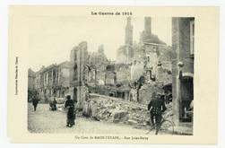 Un Coin de Raon-l'Étape. Rue Jules-Ferry, la Guerre de 1914