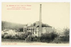 Raon-l'Étape (Vosges) incendié volontairement par les Allemands. Les grand…