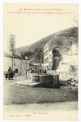 Raon-l'Étape (Vosges) incendié volontairement par les Allemands. Rue des E…