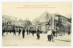 Raon-l'Étape (Vosges) incendié volontairement par les Allemands. Place des…