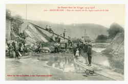 Raon-l'Étape. Pont du Chemin de fer, ligne Lunéville-St-Dié, la Guerre dan…