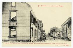 Saint-Dié (Vosges). Rue d'Hellieule : maisons incendiées volontairement pa…