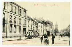 Saint-Dié (Vosges). Rue D'Alsace. Maisons incendiées par les obus allemand…