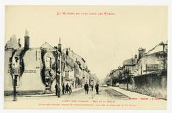 Saint-Dié (Vosges). Rue de la Bolle. Quartier entier incendié volontaireme…