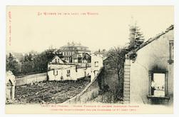 Saint-Dié (Vosges). Maison Trimbach et Anciens immeubles Damisch incendiés…