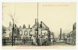 Saint-Dié (Vosges). Rue des Cités et Rue d'Hellieule prolongée. Quartier i…