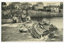 Pont-Sainte-Maxence. Le Pont sauté, Guerre de 1914