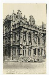 Arras. Hôtel de Ville (Façade ouest) après le bombardement. Town-Hall (wes…