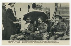 Blessés anglais s'en allant de Boulogne à Folkestone. English wounded retu…