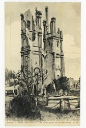 Abbaye du Mont Saint-Eloi après le bombar dement. Mont Saint-Eloi. The Abb…