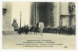 Glorification du Soldat Inconnu : transfert du Cœur de Gambetta. Le Défilé…