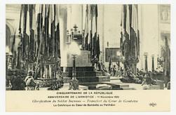 Glorification du Soldat Inconnu : transfert du Cœur de Gambetta. La Catafa…