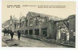 Albert (Somme) : l'usine Rochet après le bombardement. Rocher factory afte…