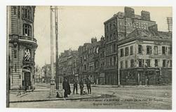 Bombardement d'Amiens : angle de la rue de Noyon. Noyon street's Corner
