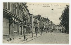 Bombardement d'Amiens : la rue de Noyon. Noyon Street