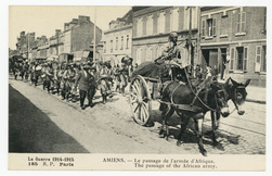 Amiens. Le passage de l'armée d'Afrique. The passage of the African army. …