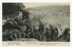 Le Franc Port. Un convoi de spahis Marocains. Maroccans spahis convoy. La …