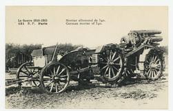 Mortier allemand de 340. German mortar of 340. La Guerre 1914-1915