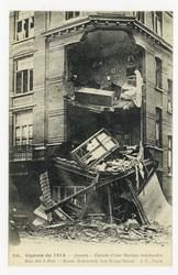 Anvers : façade d'un Maison bombardée, rue des 3 Rois. House destructed, t…
